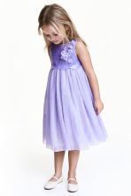 Tulle dress with sequins - Purple - Kids | H&M 1