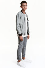 Slim fit Chinos - Dark grey -  | H&M 1