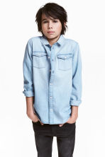 Denim shirt - Light denim blue -  | H&M CN 1