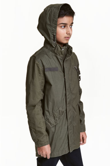 Cotton parka - Khaki green - Kids | H&M CN 1