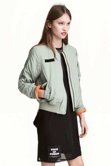Bomber jacket with braces - Dusky green - Ladies | H&M 1