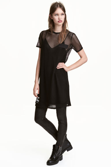 Mesh dress - Black - Ladies | H&M CN