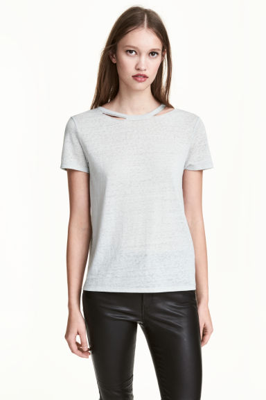 刷破T恤 - Grey - Ladies | H&M 1