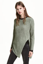 Loose-knit jumper - Khaki green - Ladies | H&M 1