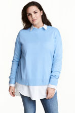 H&M+ Fine-knit jumper - Light blue - Ladies | H&M CN 1
