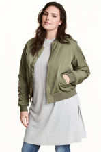 H&M+ 鋪棉飛行員外套 - Khaki green - Ladies | H&M 1