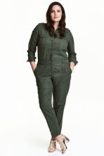 H&M+ Lyocell-blend jumpsuit - Dark khaki green - Ladies | H&M CN 1