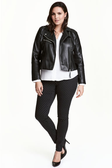 H&M+ Treggings - Black/Spotted - Ladies | H&M 1