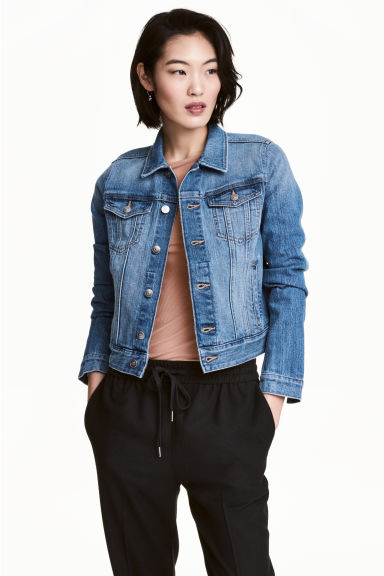 丹寧外套 - Denim blue - Ladies | H&M 1