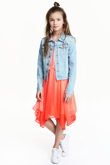 Sleeveless dress - Coral pink - Kids | H&M 1