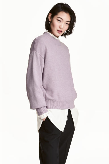 Knitted jumper - Light purple marl - Ladies | H&M 1