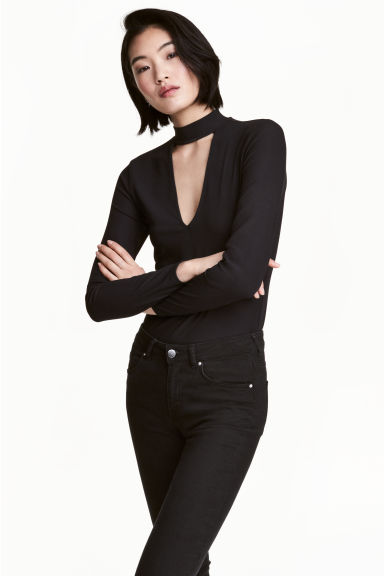 Turtleneck top - Black - Ladies | H&M CN