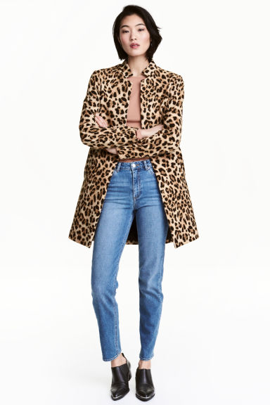 Short coat - Leopard print - Ladies | H&M GB 1