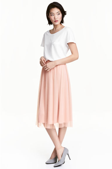 Tulle skirt - Powder pink - Ladies | H&M GB