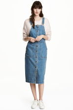 Denim dungaree dress - Denim blue - Ladies | H&M GB 1