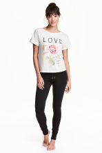 Pigiama t-shirt e pantaloni - Grigio/Love - DONNA | H&M IT 1
