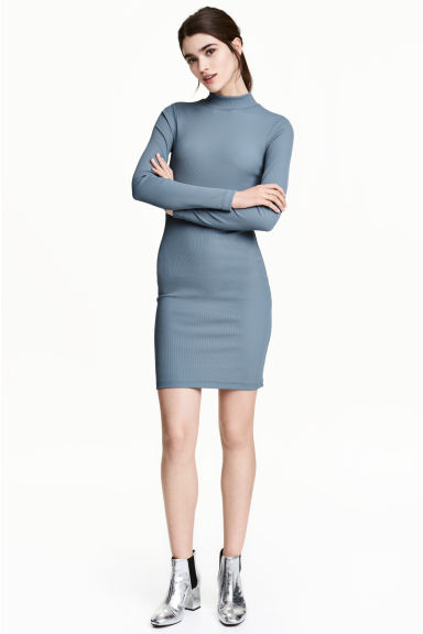 Bodycon dress - Blue-grey - Ladies | H&M CN 1