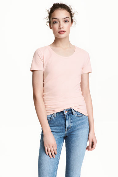 T-shirt in jersey - Rosa cipria - DONNA | H&M IT 1