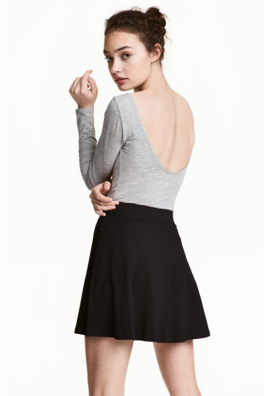 Long-sleeved body - Grey - Ladies | H&M CN