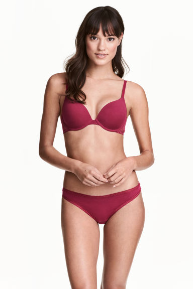5-pack thong briefs - Dark pink - Ladies | H&M 1