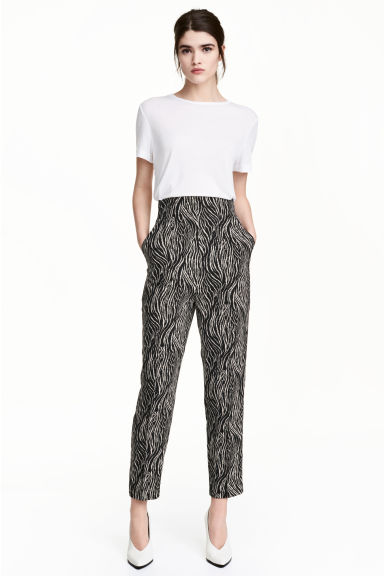 Wide trousers - Zebra print -  | H&M CN