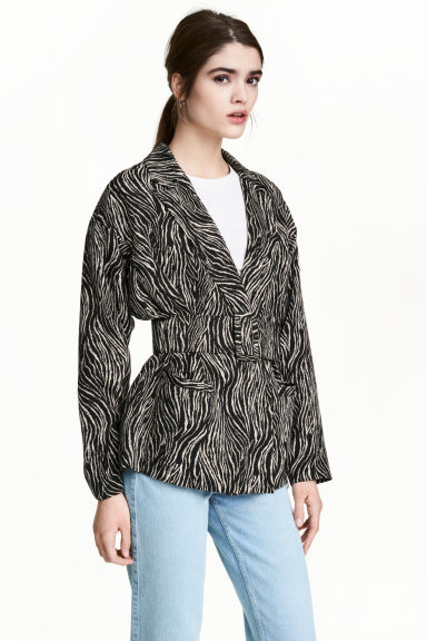 Belted jacket - Zebra print - Ladies | H&M 1