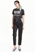 Straight High Patchwork Jeans - Mörkgrå denim -  | H&M FI 1