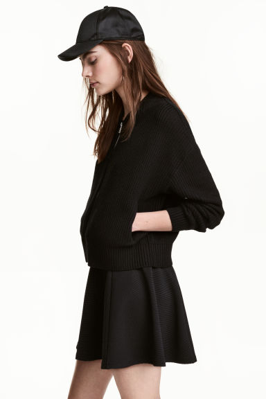 Cardigan a coste - Nero - DONNA | H&M IT 1