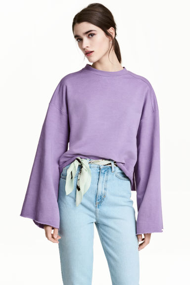 Wide sweatshirt - Purple - Ladies | H&M