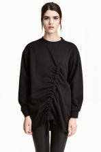 Sweatshirt with a drawstring - Black - Ladies | H&M CA 1