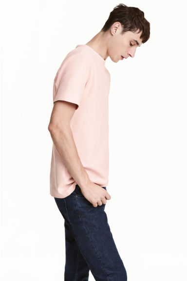 Cotton piqué T-shirt - Light apricot -  | H&M