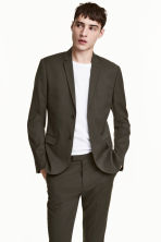 Jacket Skinny fit - Dark khaki green - Men | H&M 1