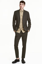 Suit trousers Skinny fit - Dark khaki green - Men | H&M 1