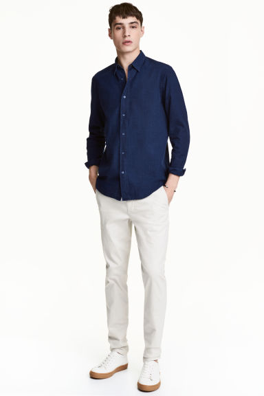 Chino - Skinny fit - Lichtgrijs - HEREN | H&M BE