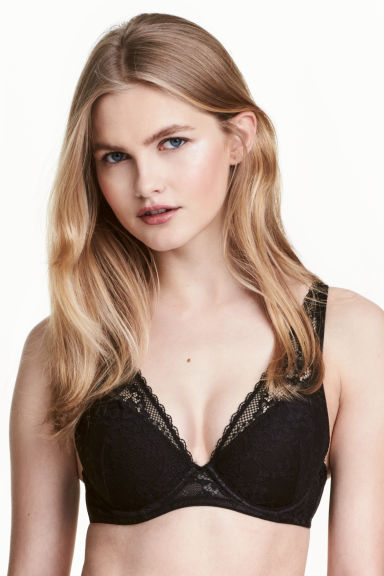 Reggiseno push-up in pizzo - Nero - DONNA | H&M IT