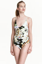 Printed swimsuit - Black/Tiger - Ladies | H&M 1