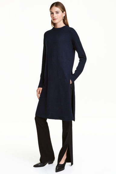 Long cashmere jumper - Dark blue - Ladies | H&M 1