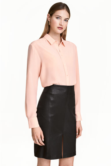Silk blouse - Powder - Ladies | H&M 1