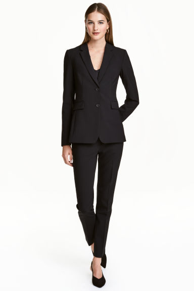 Pantaloni da tailleur in lana - Nero - DONNA | H&M IT 1