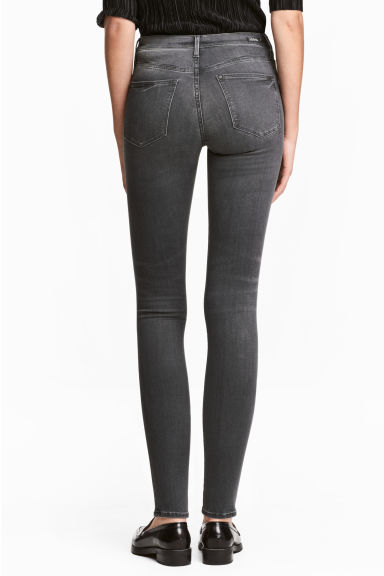 Shaping Skinny Regular Jeans - Dark grey denim - Ladies | H&M
