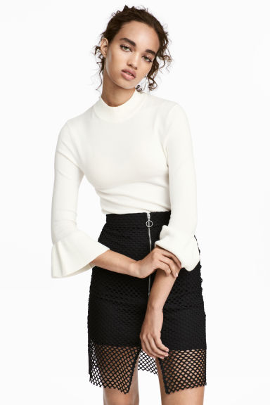 Fine-knit jumper - White - Ladies | H&M CN 1