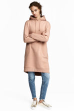 Hooded sweatshirt dress - Beige - Ladies | H&M 1