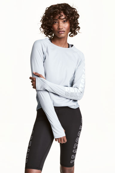 Running top - Light grey -  | H&M 1