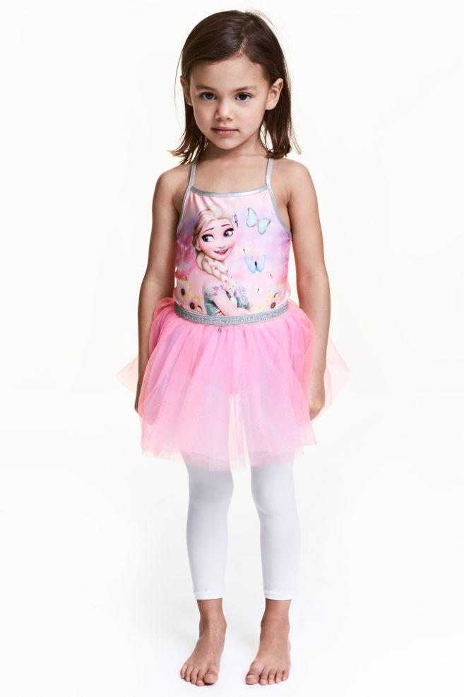 Vestido de danza con tul - Rosa/Frozen - NIÑOS   H&M ES