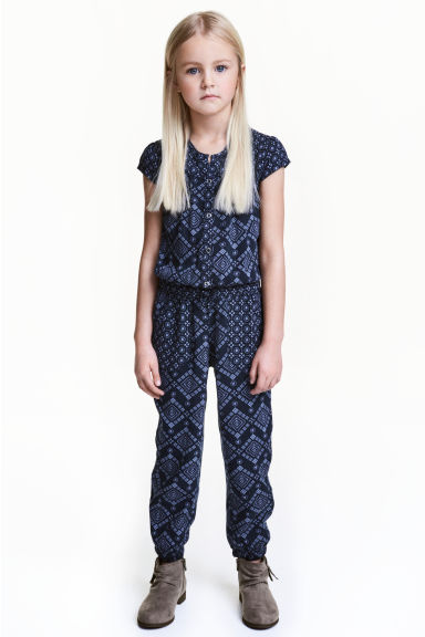 Patterned jumpsuit - Blue -  | H&M IE