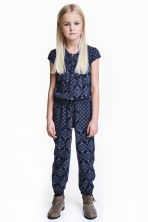 Patterned jumpsuit - Blue -  | H&M CN 1
