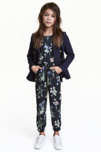 Patterned jumpsuit - Dark blue - Kids | H&M CN 1