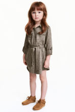 Shirt dress - Khaki green - Kids | H&M CN 1