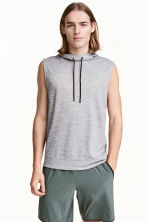 Sleeveless hooded top - Grey marl - Men | H&M CN 1