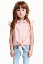 Blouse with frilled sleeves - Light pink - Kids | H&M CA 1